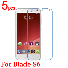 5pcs Gloss Ultra Clear LCD Screen Protector Film Cover For ZTE Blade S6 5 0 Protective