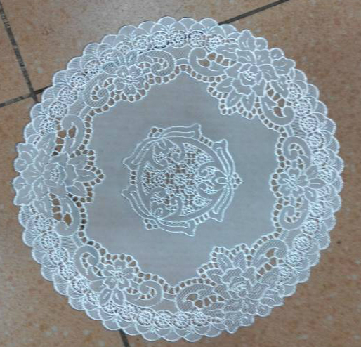 YJ-702C white Diameter 38cm PVC Mat for plate bowl table hotel dining cushion ashtray vase Place mats/Waterproof(4 pieces/lot)