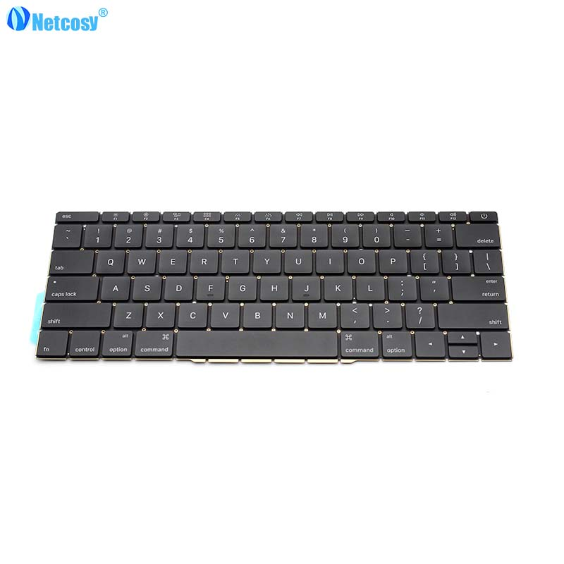 Netcosy New US standard keyboard For Macbook Pro Retina 13 A1706 2016 US Replacement keyboard Laptop For Macbook A1706 100% new original laptop keyboard us version for macbook a1706 us keyboard replacement page 3