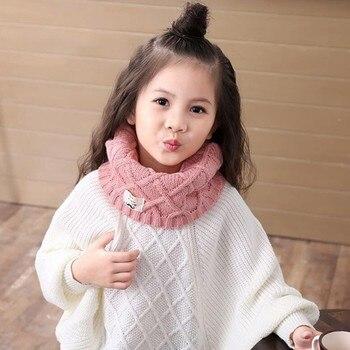 Jamontмилый хлопковый зимний шарф снуд для малышей детская вязаная
