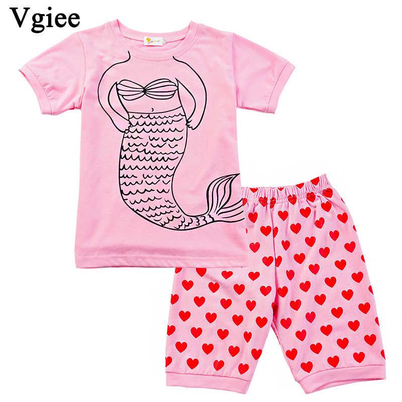 Vgiee çocuk giysileri kızlar butik çocuk giyim 2019 moda yaz karikatür denizkızı kız elbise CC148
