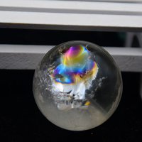 High quality 100% natural quartz crystal white rainbow crystal ball furnishing articles to heal