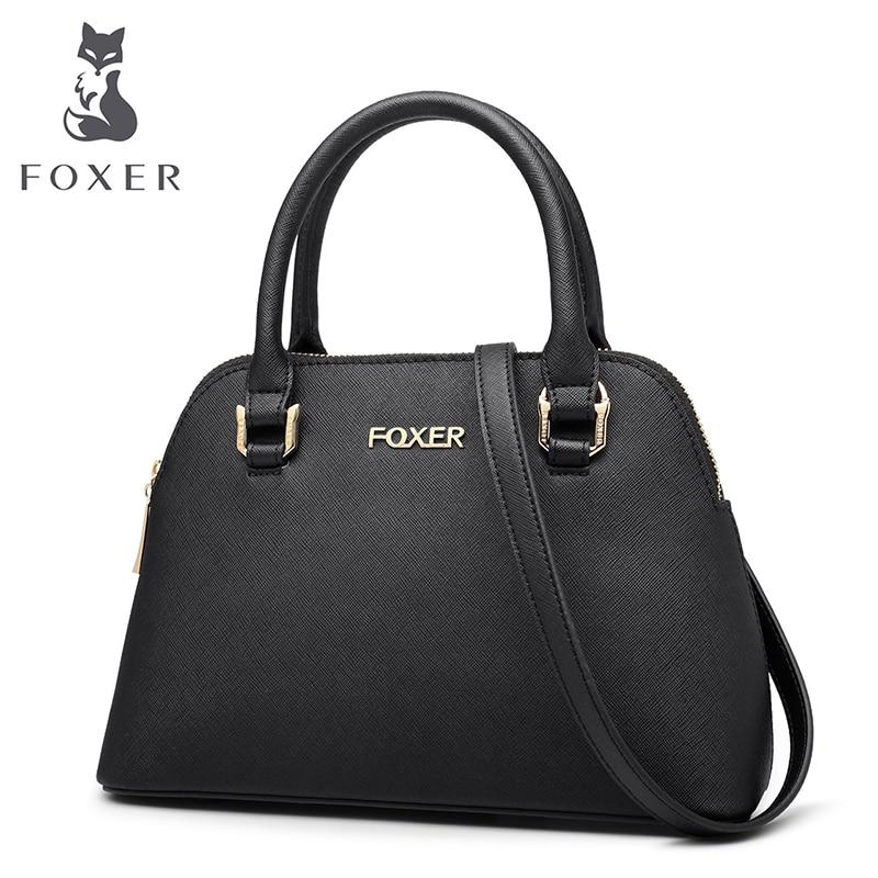 FOXER Brand Women's Leather Handbag Luxury crossbody Bag Women New Handbags Female Bag Lady Bag foxer brand 2018 women leather crossbody bag