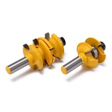 Mayitr 2Pcs 1/2 Round Over Router Bit Entry and Interior Door Cabinet Round Over Matched Router Bit Set For Milling Tools 1 2 shanks round over rail