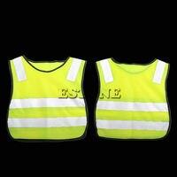 Безопасности Hi Vis детский жилет серый светоотражающие полосы трафика одежда