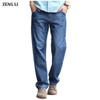Men S Classic Jeans Straight Full Length Casual Brand Spring Denim Jeans Man Trouser Autumn Cowboy