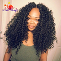 Heavy Density Kinky Curly Wigs Soft Hair Synthetic Lace Front Wig For African Americans No Tangle Afro Curly Hair Wigs