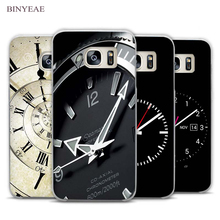 BINYEAE Funny Clock Clear Phone Case Cover for Samsung Galaxy Note 2 3 4 5 7 S3 S4 S5 Mini S6 S7 S8 Edge Plus