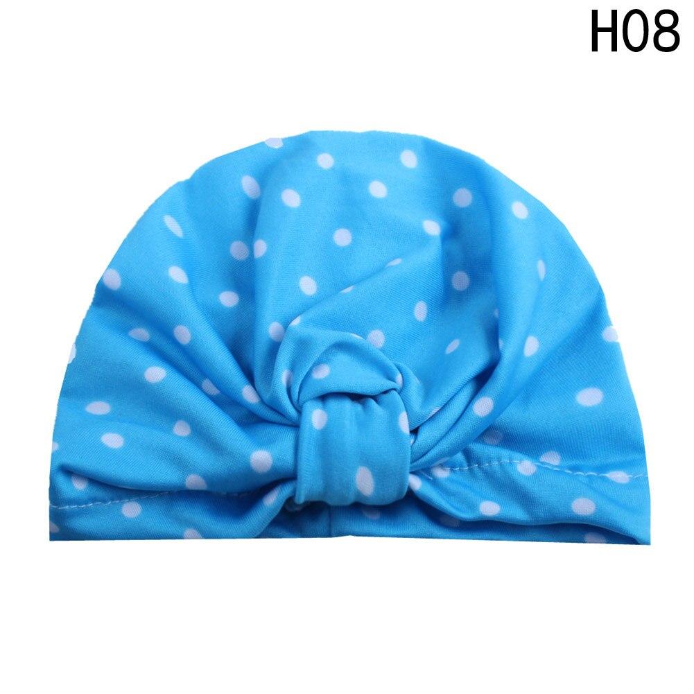 New Fashion Dot Children Turban Hat Multicolor Summer Baby Beanie For Beach Travel Bohemia Girls Cap