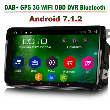 9 Android 7.1 Navigation GPS Autoradio DAB+ for VW Passat b6 Polo SKODA Octavia Limousine Touchscreen Car Radio OBD CANBUS DTV image