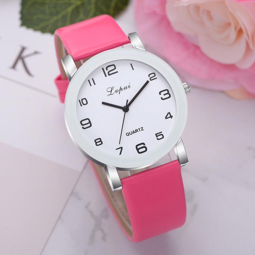 Lvpai Women's Casual Quartz Leather Band Watch Luxury Fashion Ladies Watch Leather Dress Hours Relogio Feminino Relojmujer B50