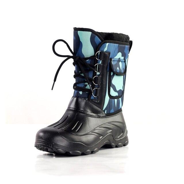 Новый Дизайн Мужчины На Открытом Воздухе Сапоги Непромокаемые противоскольжения Теплые Зимние Ботинки Горных Climing Рыбалка Лыжные Ботинки