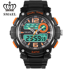 SMAEL Watch Fashion Big Dial Watches LED Waterproof Mens Watches font b Top b font font
