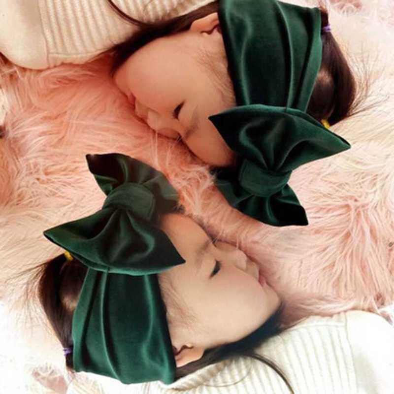 Детская бархатная головная повязка в виде чалмы с узлом повязки голову-большой бант FR024
