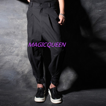 27-44!!! 2018 Big yards men's pants Stylist culottes turnip pants haroun pants personality trend The singer's clothing