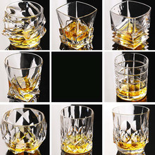 Square Crystal Whiskey Glass Cup For the Home Bar Beer Water and Party Hotel Wedding Glasses Gift Drinkware(China)