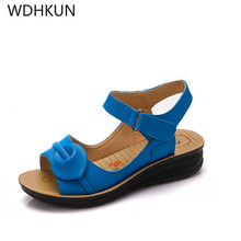 WDHKUN 2019 Summer Women Sandals,Shoes Woman Vintage Ladies Flat Gladiator Sandals Shoes Platforms zapatos mujer