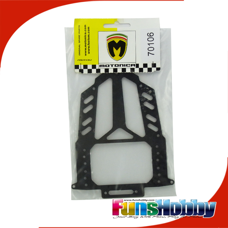 Italy Motonica 1:8 On Road RC Model Nitro Car Parts Radio Plate 1mm Applied to P8C P8F P81 (COD.70106) italy motonica 1 8 on road rc model nitro car parts front shocks mount rs carbon fibre applied to p81 cod 05187