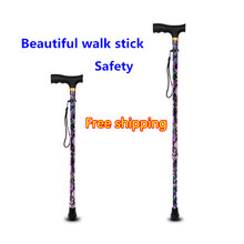 Nordic old man folding walking stick for old people cheap Gzanbanjia ABJ-XKW1 0 4kg Adjustable 60-95cm 150kg Aluminum alloy 10 files can be adjusted