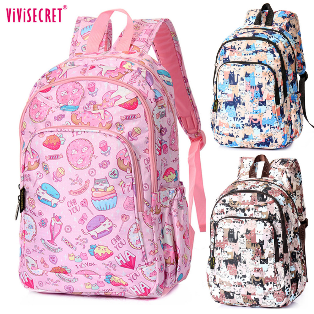 2016 Unisex Waterproof Nylon 14 inch Latop Primary School Bag High Quality Cartoon Backpack For Children Kids Mochila Escolar