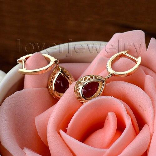 Loverjewelry 100% Təbii Diamond Sırğalar Moda Zərgərlik 14K - Gözəl zərgərlik - Fotoqrafiya 6