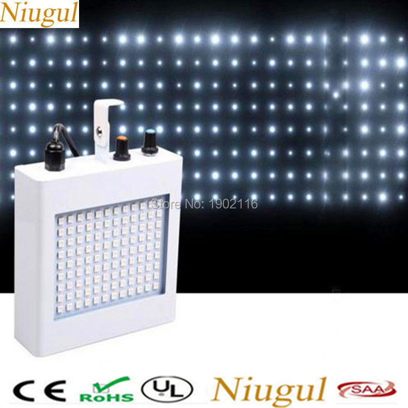 Niugul Excellent Stability 20W Led Stage Light 108 LED Strobe Party Lights LED Flash Lighting Speed Adjustable RGB/white LEDS