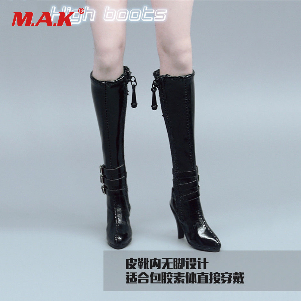 0392df03e15 ZY1008 1:6 Scale Figure Accessory High Heels Long Boots Hollow Shoes  Black/White/Red Color for 12 inches Action Figure Body