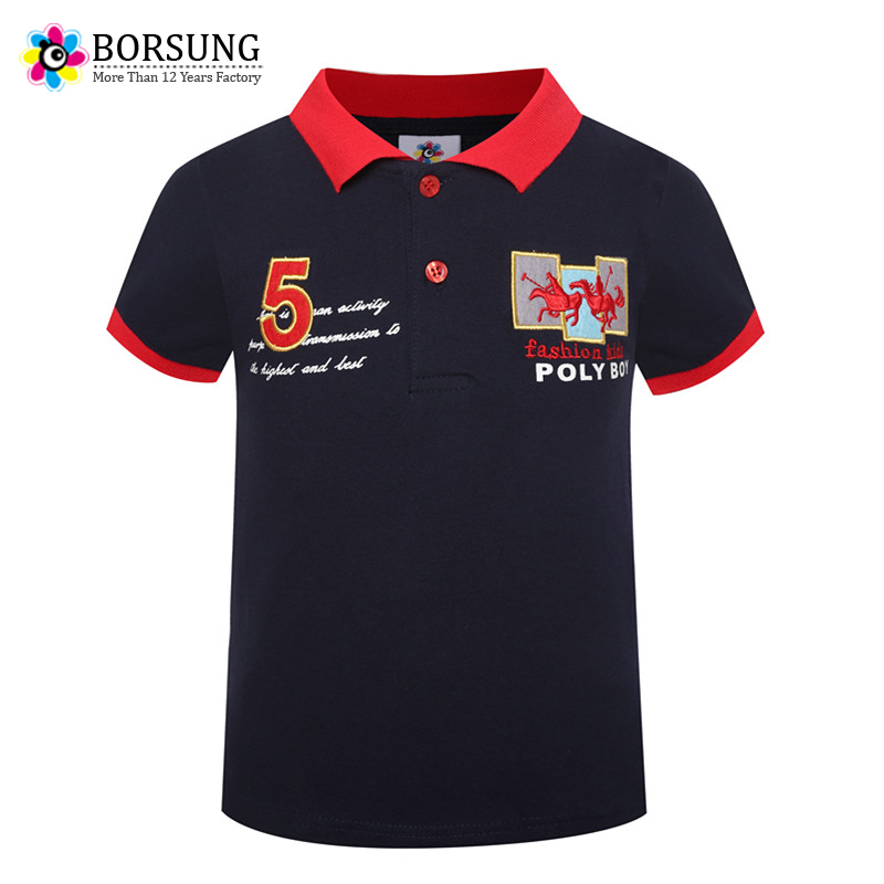 3-7Years Boys   Polo   Shirt Short Sleeve 2018 New Summer Boys Clothes Kids Fashion Embroidery   Polo   Top For Boys Children Clothing