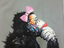 Абстрактная картина обезьяна ручная роспись высокое качество