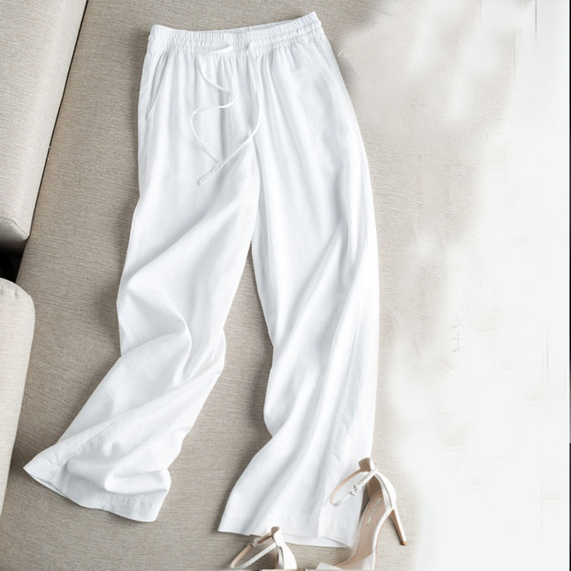 Cotton And Linen   Pants   For Women 2019 Spring Summer Plus Size XXXL Loose   Wide     Leg     Pants   Straight Long Trousers Casual   Pants   A104