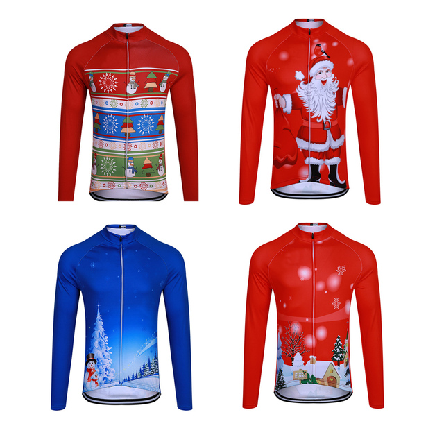 Christmas themed sublimation printing cycling jersey MTB Bike Cycling  Clothing Ropa Maillot Ciclismo Racing Bicycle Clothes 76ddea4e5