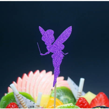 Lovely Angel Happy Birthday Cake Flag Topper Multi Colors For Wedding - Festive and Party Supplies - Photo 2