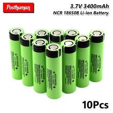 18650 battery 3.7V 3400mAh Power Rechargeable Lithium Li-ion batteries discharge Cell Rechargeable bateria mbr cell power foot