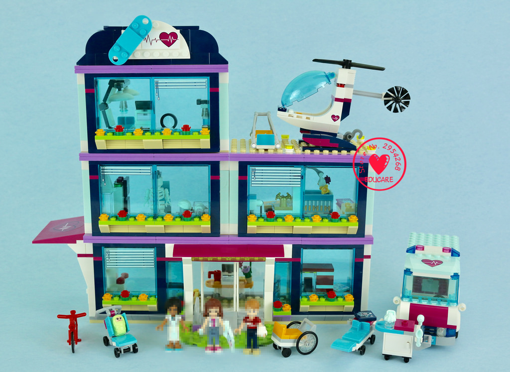 2018 New friends Girls Building Blocks toys Heartlake Hospital Bricks diy toy girl 41318 compatible legoes Friends gifts kid set 10494 friends city supermarket building bricks blocks set mia daniel girl toy compatible lepine 41118
