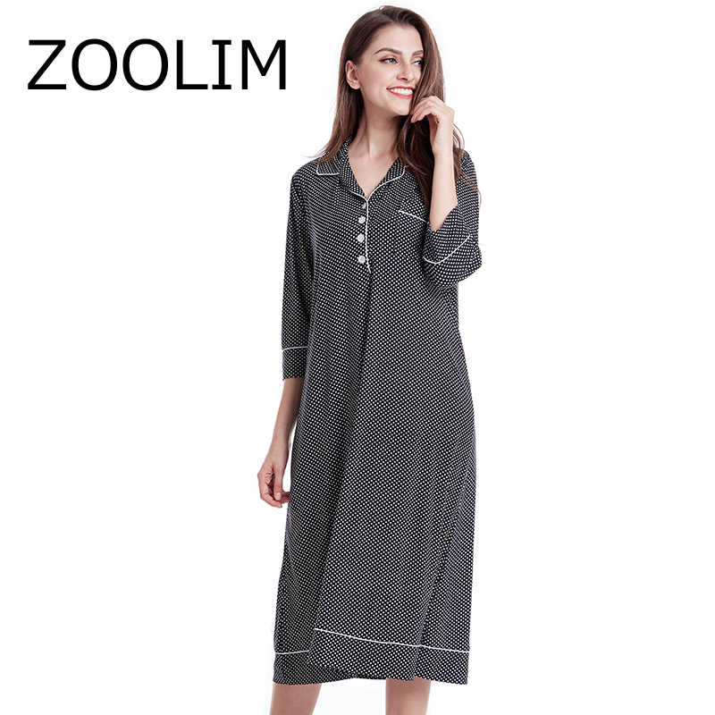 8af3bfc543 ZOOLIM Women Sleepwear Night Dress 100% Cotton Night Shirts Plus Size  Nightgowns Nightwear Home Dress