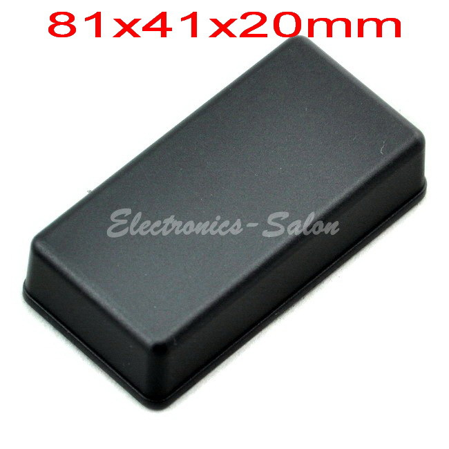 Small Desk-top Plastic Enclosure Box Case,Black, 81x41x20mm,  HIGH QUALITY.