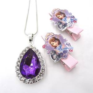 ZZLANDZSQ Girl Pendant Necklaces Children Jewelry set