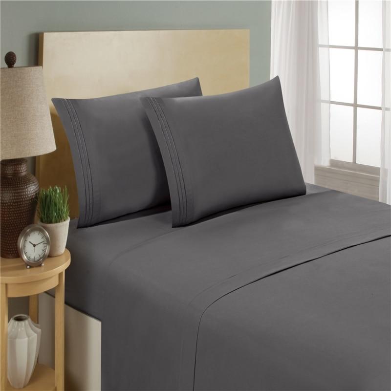 laiyinsun bedding set fitted sheet flat flat sheet pillowcase 3 4pcs 3 4pcs solid. Black Bedroom Furniture Sets. Home Design Ideas