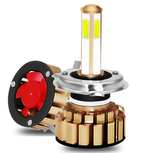 H4 9003 HB2 Hi/Lo COB Car LED Headlight Bulbs 80W 8000lm IP68 Car Auto Headlamp Led Lights Bulb for HONDA NISSAN SKODA TOYOTA цена