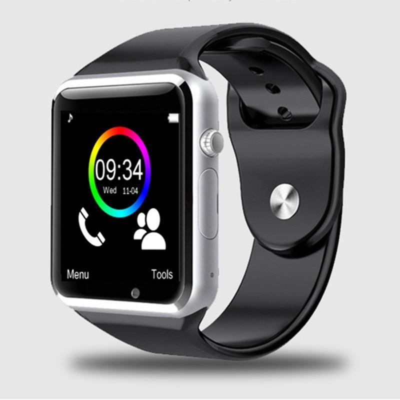 Caliente a1 reloj bluetooth smart watch deporte podómetro con sim cámara smartwa