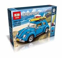 Lepin Creator Technic Volkswagen Bettle Car City Blocks Building Bricks Toys For Children Christmas Gift Juguetes