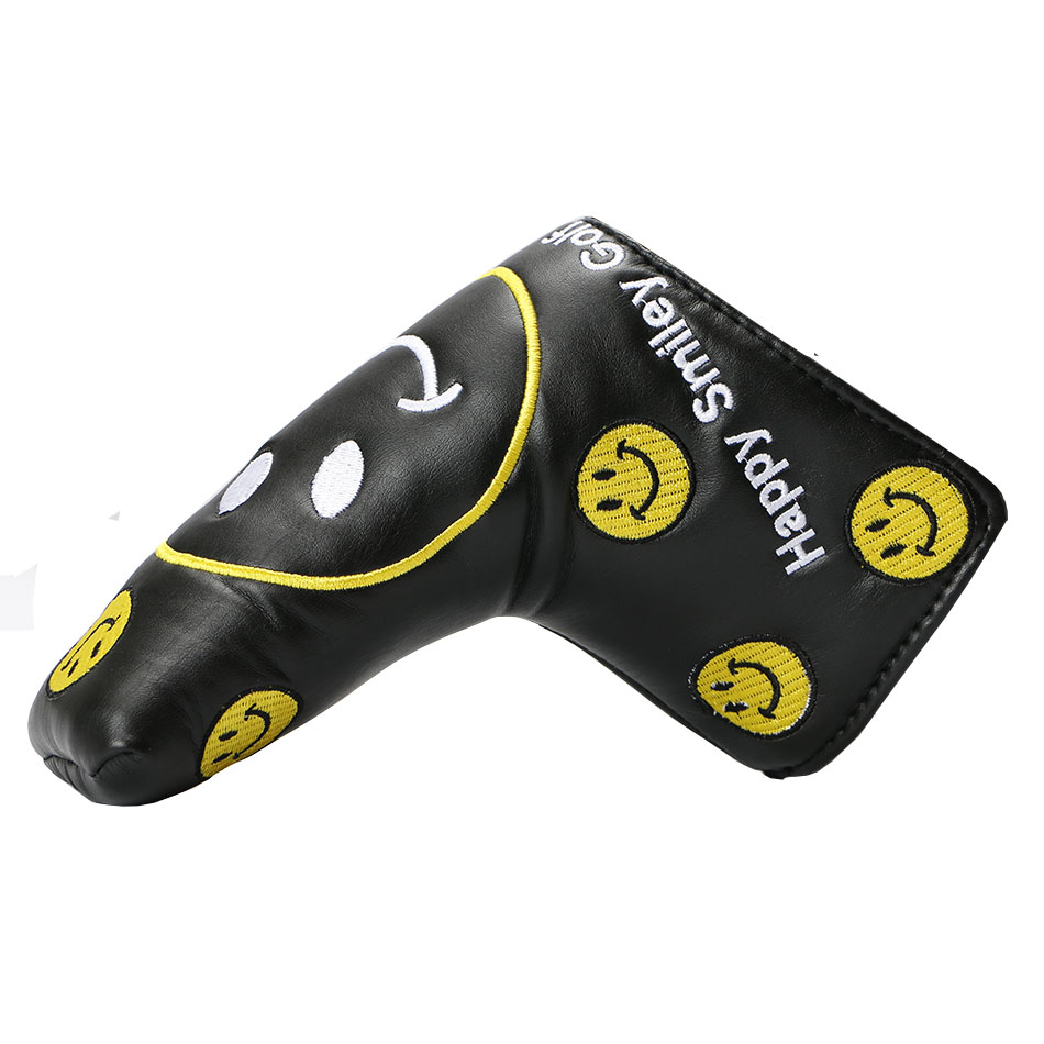 Golf Putter Cover Headcover For Blade Golf Putter Smiley Face Pattern Pu Protect Covers