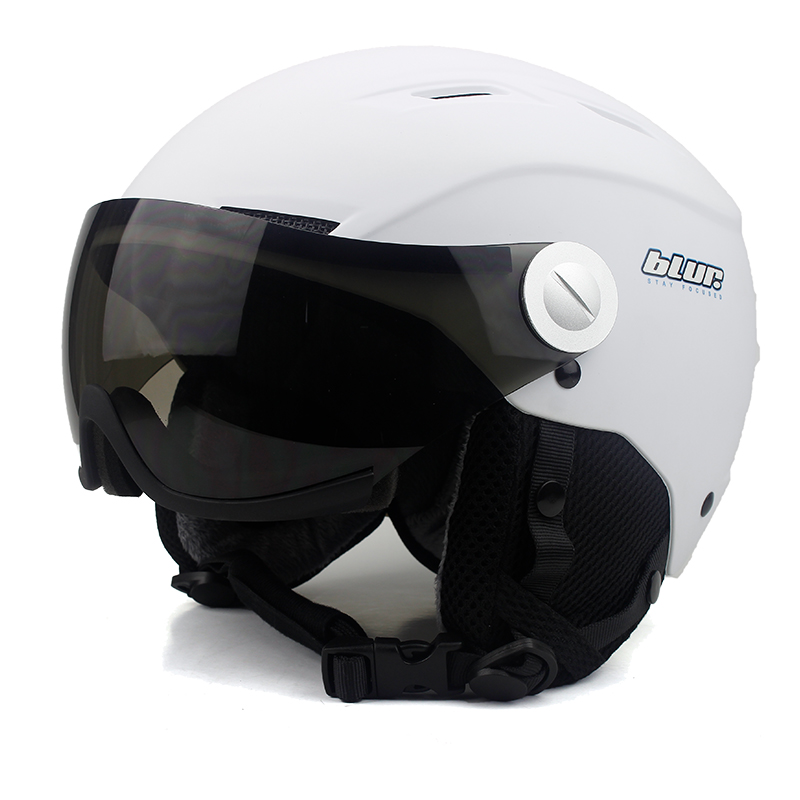 все цены на BLUR Ski Helmet For Adult Snowboard Men's Covers Head Guard Helmet Skate Outdoor Sports Protection Airsoft Downhill Helmet онлайн