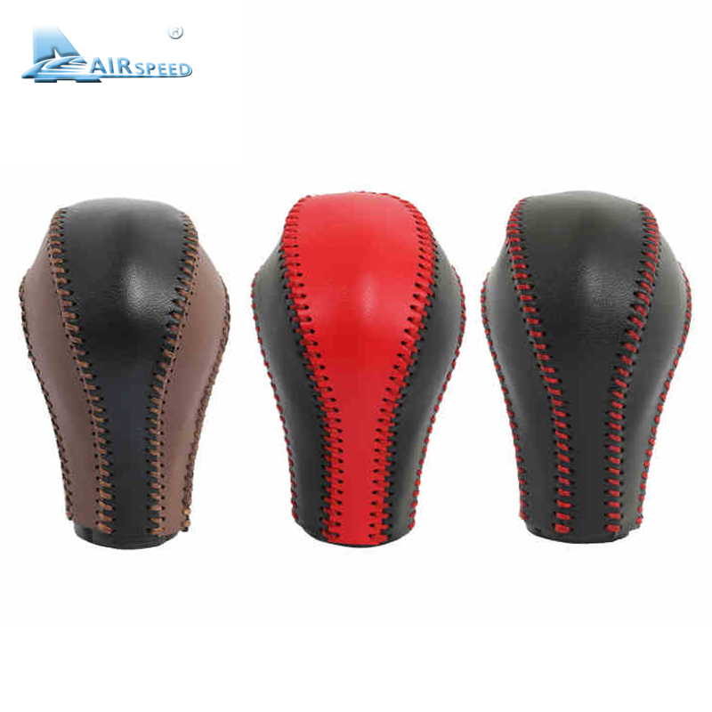 Airspeed leather gear shift knob handle Cowhide Cover Hand-sewnFor Infiniti QX50 QX70 QX80 EX FX G Interior Accessories hand sewn leather cowhide steering wheel diy sticker cover for infiniti q50 qx50 ex35 jx qx60 q60 q70 g ex interior accessories