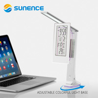 Sunence LED Table Lamp USB Charge Port Table Light With Foldable Dimmable Flexible Alarm Clock LCD Display Business Desk Lamp