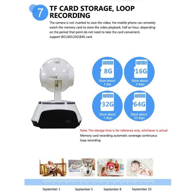 Baby Monitor Portable WiFi IP Camera 720P HD Wireless Smart Baby Camera Audio Video Record Surveillance Home Security Camera 4