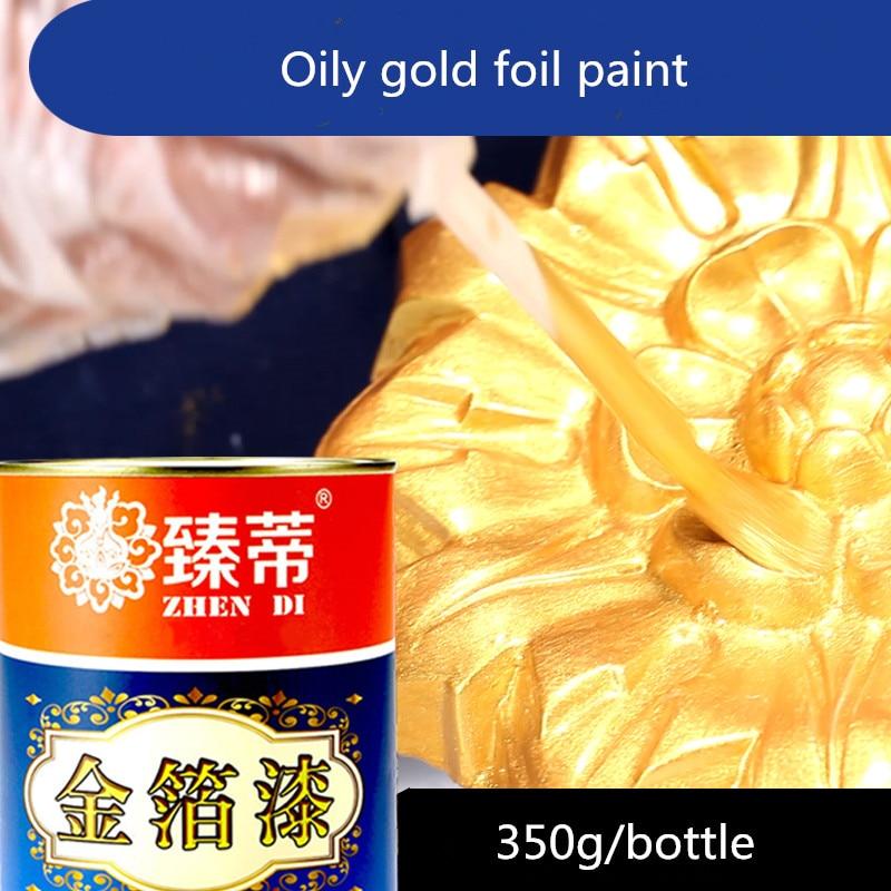 Kann Angewendet Werden Auf Jeder Oberfläche Kunden Zuerst Holz Farbe Geschmacklos ölfarbe Metall Lack 350g/flasche Heißer Stanzen Helle Gold Farbe