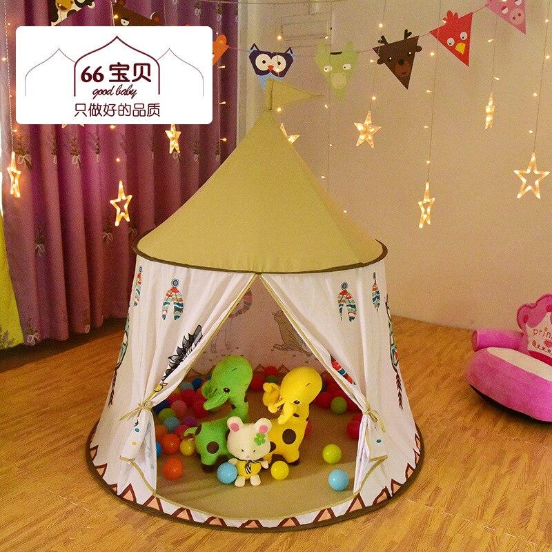 116*123 Cm Lion petite tente indienne intérieure et extérieure bébé jouets enfants tente cadeau pliable