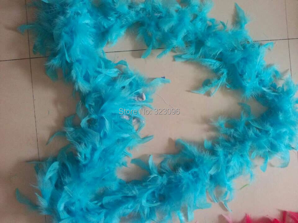 Free Shipping 2M 79Inch Long Fluffy Feather Boa Party Wedding Dress Costume Decor Decoration
