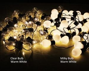Image 2 - LED String Christmas Lights Outdoor 220V 10M Light Chain LED Festoon Bulb Wedding Party Garland Xmas Decoration Fairy Lights